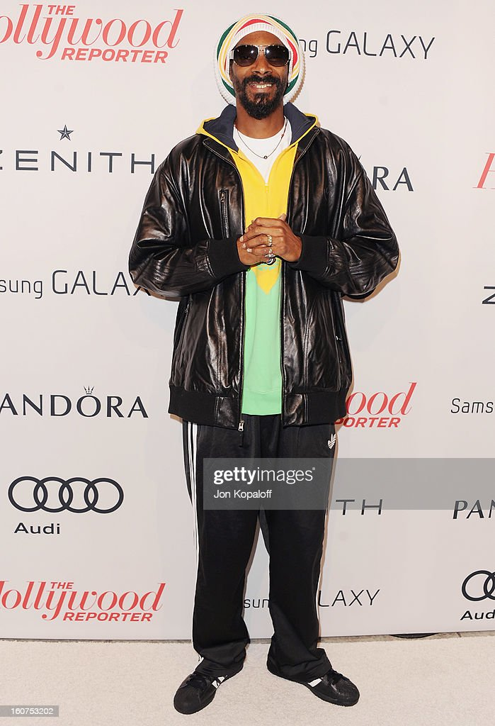 Rapper Snoop Dogg arrives at The Hollywood Reporter Nominees' Night 2013 Celebrating 85th Annual Academy Award Nominees at Spago on February 4, 2013 in Beverly Hills, California.
