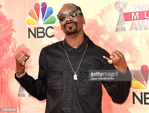 Rapper Snoop Dogg attends the 2015 iHeartRadio Music Awards which broadcasted live on NBC from The Shrine Auditorium on March 29 2015 in Los Angeles...