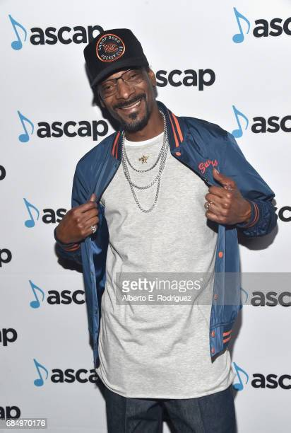 Rapper Snoop Dogg backstage at the 2017 ASCAP Pop Awards at The Wiltern on May 18 2017 in Los Angeles California