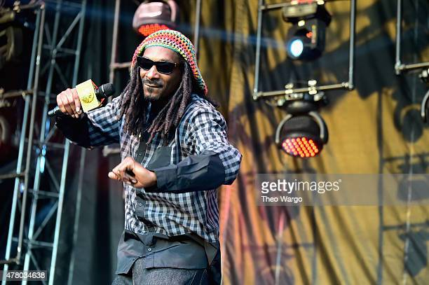 Rapper Snoop Dogg performs onstage during day 4 of the Firefly Music Festival on June 21 2015 in Dover Delaware