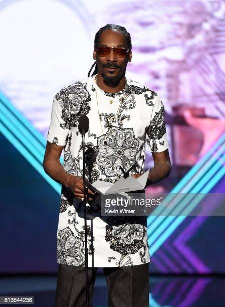 Rapper Snoop Dogg speaks onstage at The 2017 ESPYS at Microsoft Theater on July 12 2017 in Los Angeles California