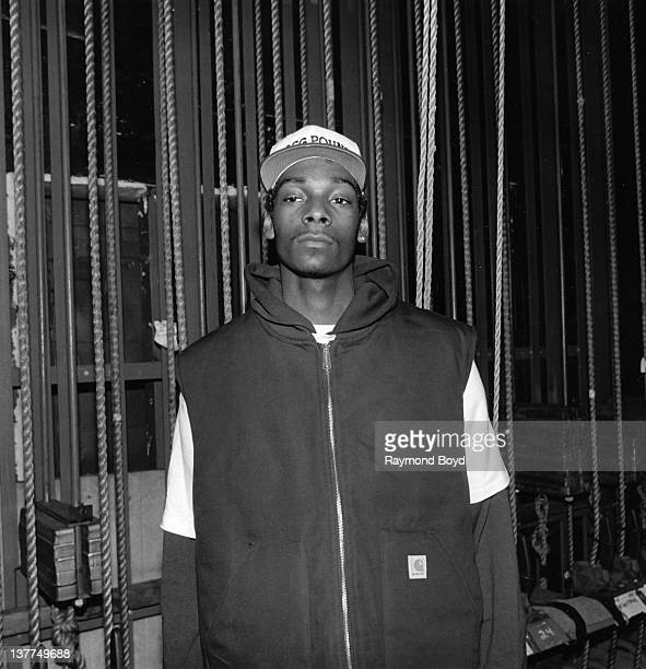 Rapper Snoop Doggy Dogg poses for a photo after his performance at the Regal Theater in Chicago Illinois in 1993