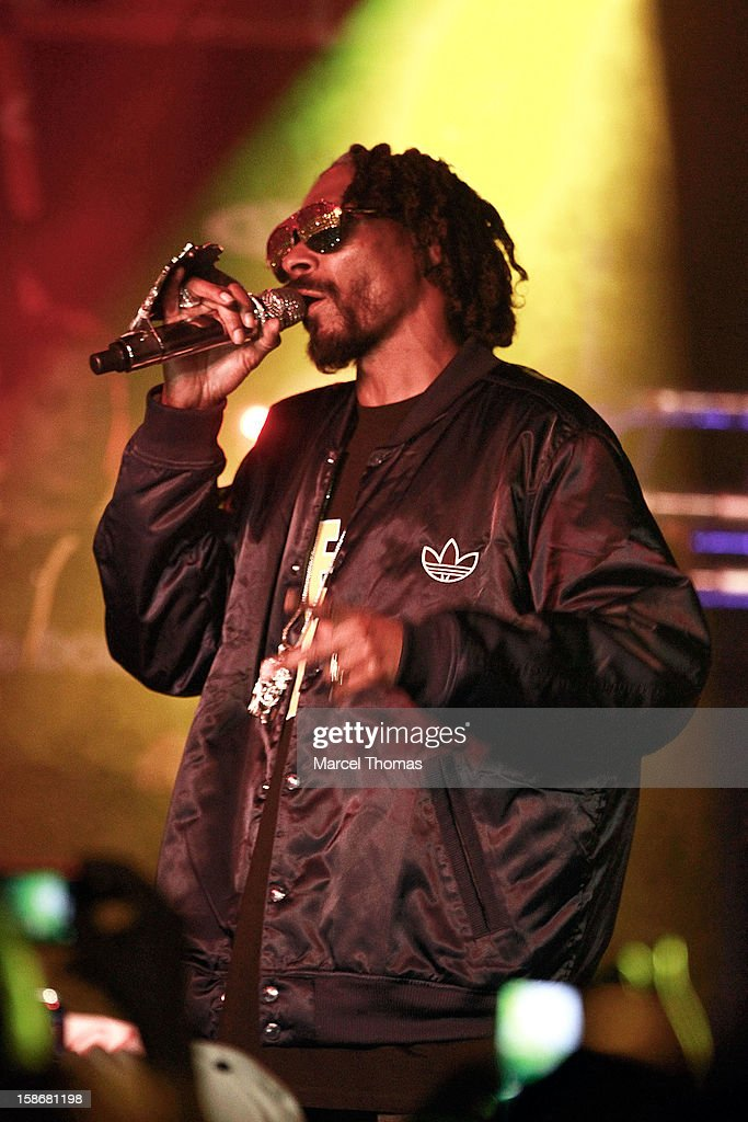 Rapper Snoop Lion aka Snoop Dogg performs at the Hard Rock Cafe on December 22, 2012 in Las Vegas, Nevada.