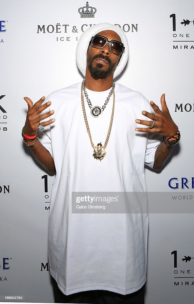 Rapper Snoop Lion arrives at 1 OAK Nightclub at The Mirage Hotel & Casino for a Memorial Day weekend celebration on May 25, 2013 in Las Vegas, Nevada.