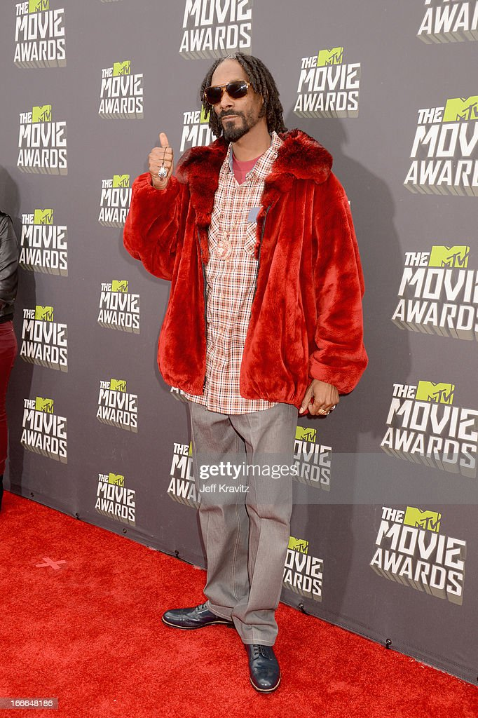 Rapper Snoop Lion attends the 2013 MTV Movie Awards at Sony Pictures Studios on April 14, 2013 in Culver City, California.