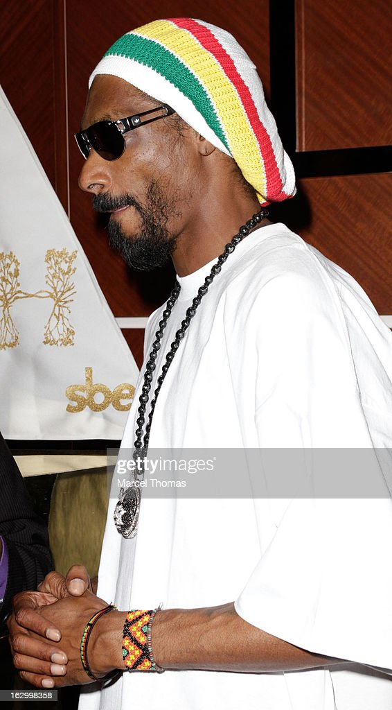 Rapper Snoop Lion attends the launch party for Bonita Platinum Tequila Line at Hyde Bellagio at the Bellagio on March 2, 2013 in Las Vegas, Nevada.