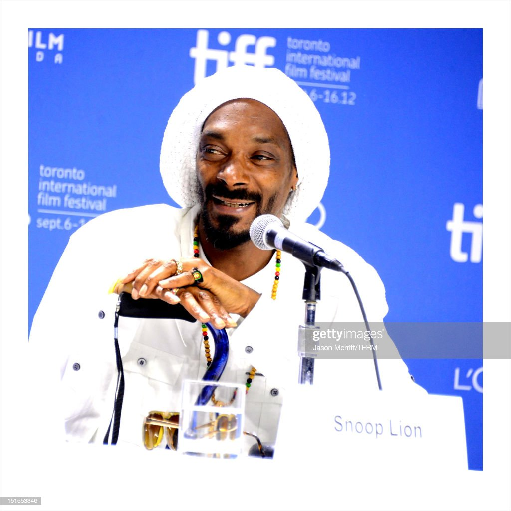 Rapper Snoop Lion speaks onstage at the 'Reincarnated' press conference during the 2012 Toronto International Film Festival at TIFF Bell Lightbox on September 7, 2012 in Toronto, Canada.