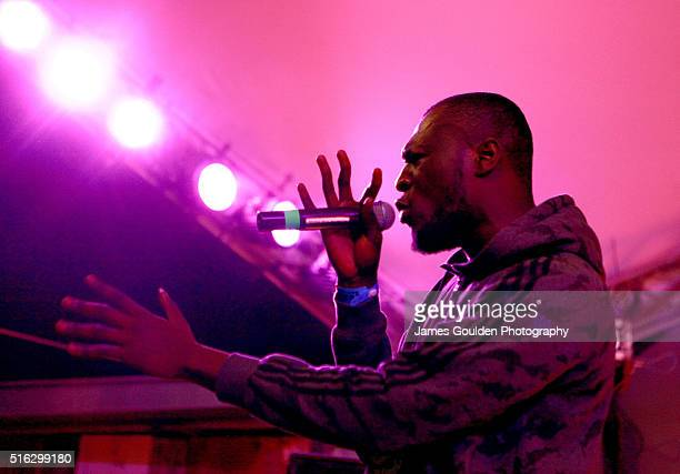 Rapper Stormzy performs onstage at the BBC Music showcase during the 2016 SXSW Music Film Interactive Festival at Stubbs on March 17 2016 in Austin...