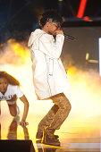 Rapper Swae Lee of Rae Sremmurd performs onstage during the BET Hip Hop Awards 2014 at Boisfeuillet Jones Atlanta Civic Center on September 20 2014...