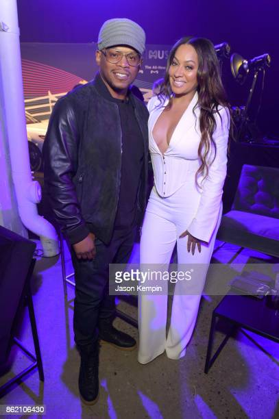 Rapper Sway Calloway and TV personality La La Anthony attend VH1 Save The Music 20th Anniversary Gala at SIR Stage37 on October 16 2017 in New York...