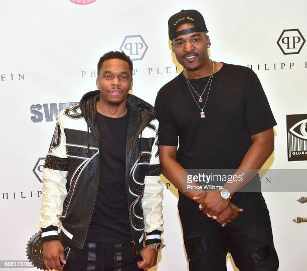 Rapper Swift and Dj Infamous attend Sip Shop Listen For the 'Crown' EP at Philipp Plein on April 12 2017 in Atlanta Georgia