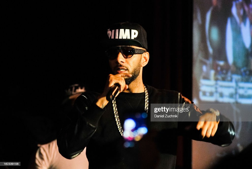 Rapper Swizz Beatz performs during the 'Thank You To Hip Hop' Hurricane Sandy benefit at BB King on February 21, 2013 in New York City.