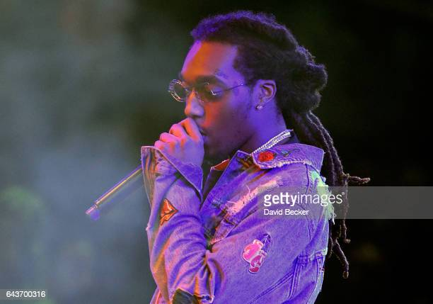 Rapper Takeoff of Migos performs at Drai's Beach Club Nightclub at The Cromwell Las Vegas on February 22 2017 in Las Vegas Nevada