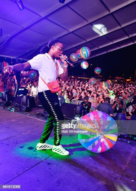 Rapper Takeoff of Migos performs on the Boom Boom Tent during the KickOff party for the 2017 Hangout Music Festival on May 18 2017 in Gulf Shores...