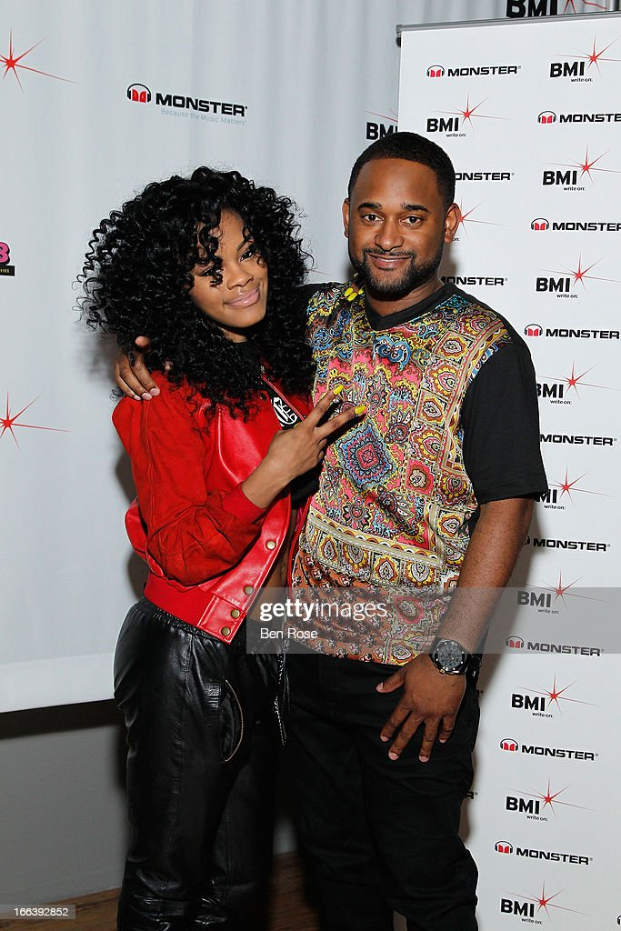 Rapper <a gi-track='captionPersonalityLinkClicked' href=/galleries/search?phrase=Teyana+Taylor&family=editorial&specificpeople=4224306 ng-click='$event.stopPropagation()'>Teyana Taylor</a> and BMI's Byron Wright pose backstage during BMI's 15th annual Unsigned Urban showcase at Terminal West on April 11, 2013 in Atlanta, Georgia.