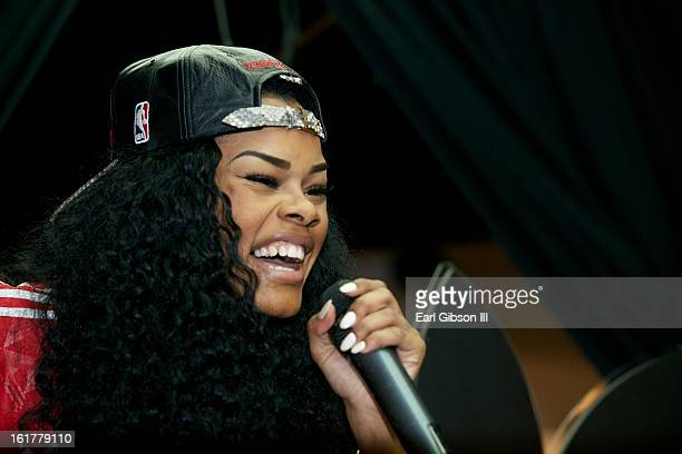 Rapper Teyana Taylor performs at Adidas Store in the Galleria Mall on February 15 2013 in Houston Texas