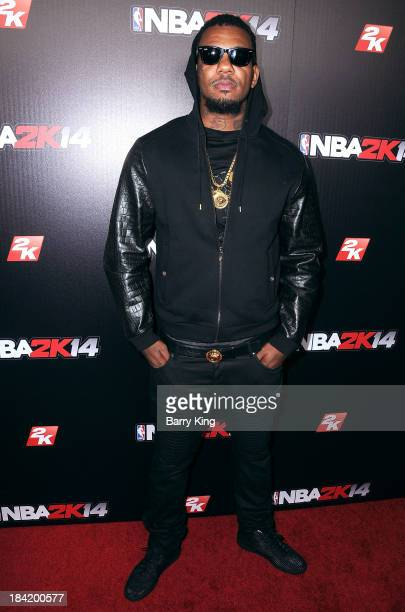 Rapper The Game attends the NBA 2K14 premiere party on September 24 2013 at Greystone Manor Supperclub in West Hollywood California