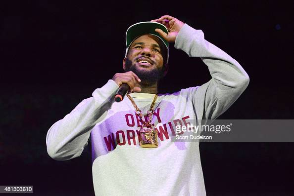 Rapper The Game performs onstage at Irvine Meadows Amphitheatre on July 18 2015 in Irvine California