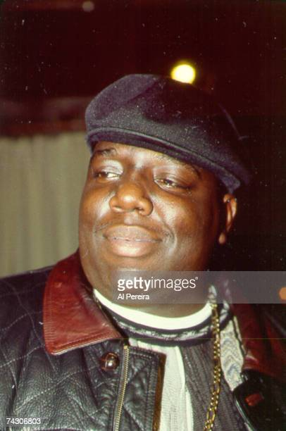 Rapper The Notorious BIG attends an event in November 1994 in New York New York