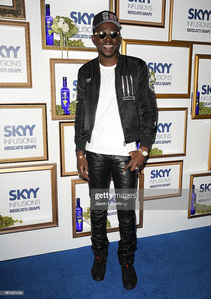 Rapper Theophilus London attends the House Of Moscato launch party at Greystone Manor Supperclub on April 24, 2013 in West Hollywood, California.