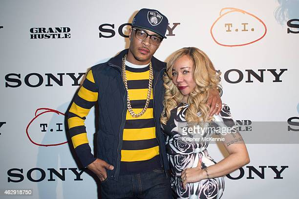 Rapper TI and wife Tameka 'Tiny' Harris attends TI's private Grammy Weekend Concert at The Sayers Club on February 6 2015 in Hollywood California