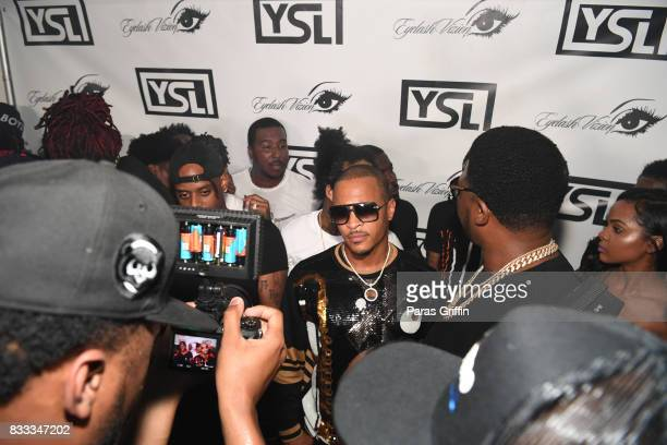 Rapper TI arrives at Young Thug Private Birthday Celebration at Tago International on August 16 2017 in Atlanta Georgia