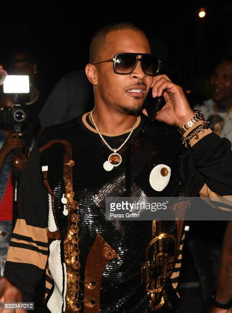Rapper TI arrives at Young Thug Private Birthday Celebrtation at Tago International on August 16 2017 in Atlanta Georgia