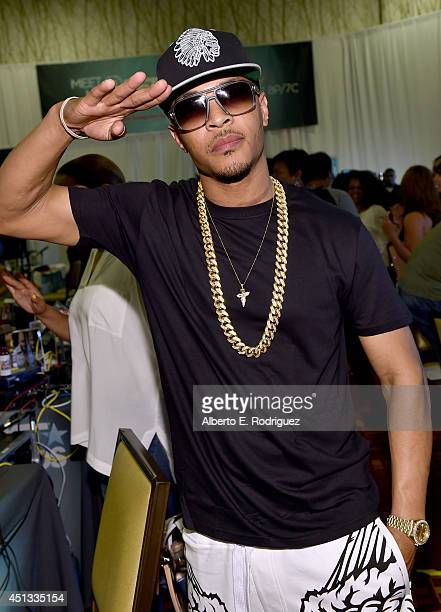 Rapper TI attends day 1 of the Radio Broadcast Center during the BET Awards '14 on June 27 2014 in Los Angeles California