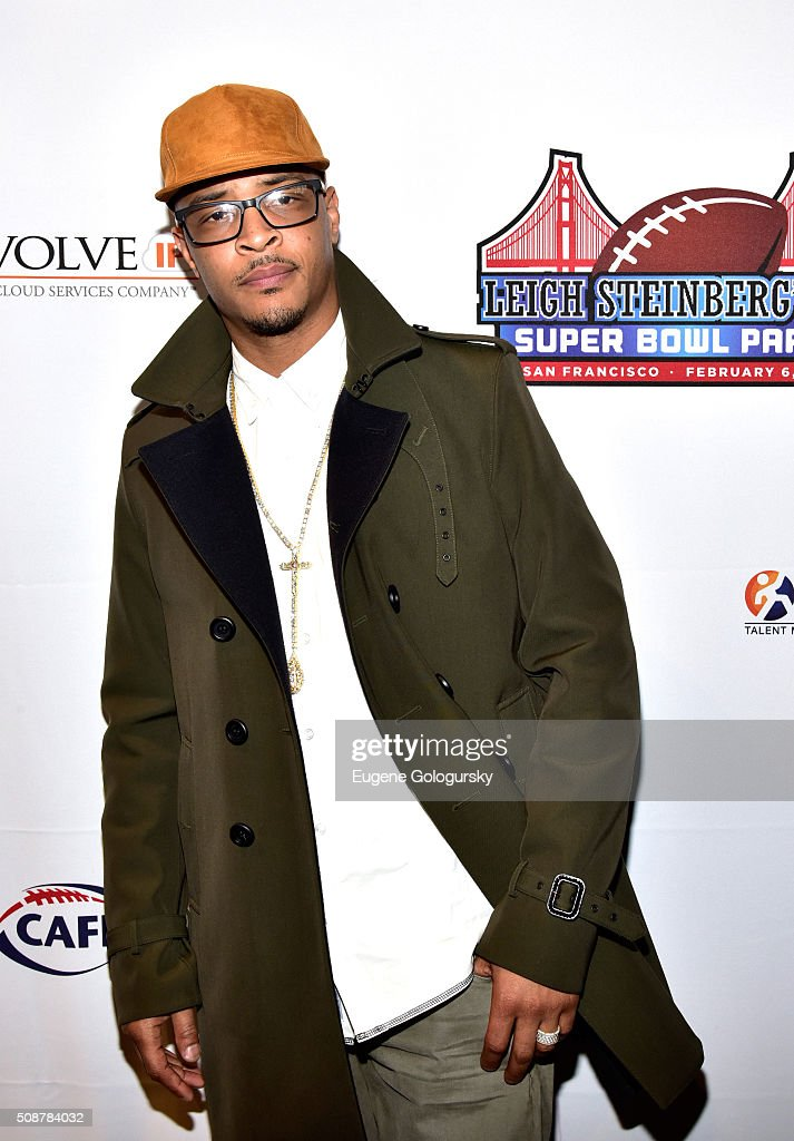 Rapper <a gi-track='captionPersonalityLinkClicked' href=/galleries/search?phrase=T.I.&family=editorial&specificpeople=221599 ng-click='$event.stopPropagation()'>T.I.</a> (aka Clifford Joseph Harris, Jr.) attends the 29th Annual Leigh Steinberg Super Bowl Party on February 6, 2016 in San Francisco, California.