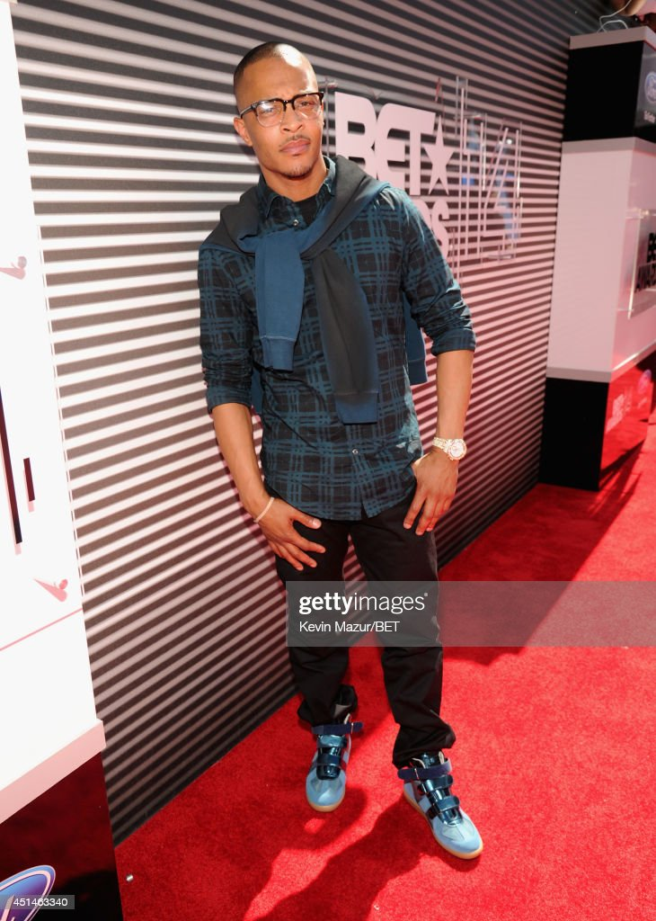 Rapper TI attends the BET AWARDS '14 at Nokia Theatre LA LIVE on June 29 2014 in Los Angeles California