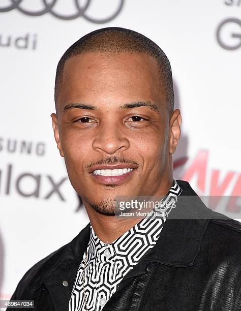 Rapper TI attends the premiere of Marvel's 'Avengers Age Of Ultron' at Dolby Theatre on April 13 2015 in Hollywood California