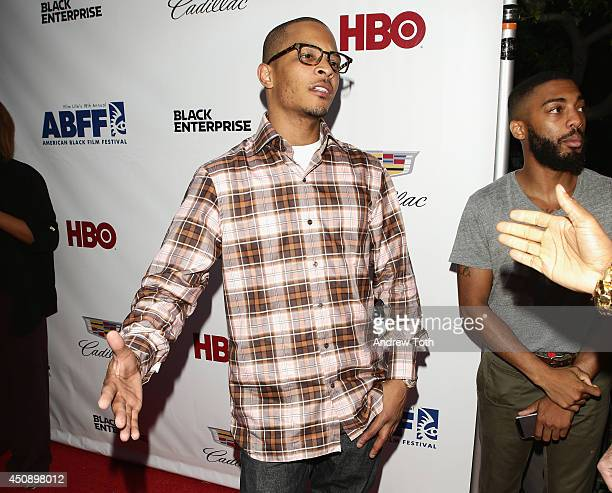 Rapper TI attends the 'Think Like A Man Too' premiere during the 2014 American Black Film Festival at SVA Theater on June 19 2014 in New York City