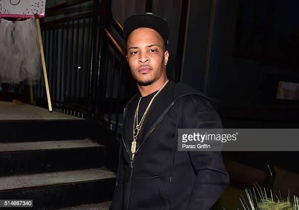 Rapper TI attends TI Tameka 'Tiny' Harris Private Baby Shower on March 6 2016 in Atlanta Georgia