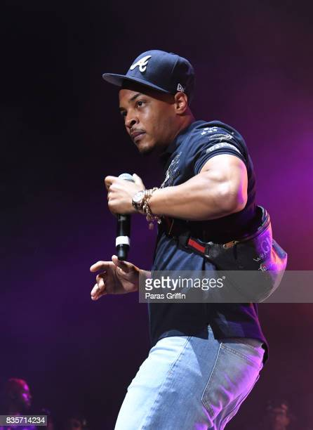 Rapper TI performs onstage at Streetzfest 2K17 at Lakewood Amphitheatre on August 19 2017 in Atlanta Georgia