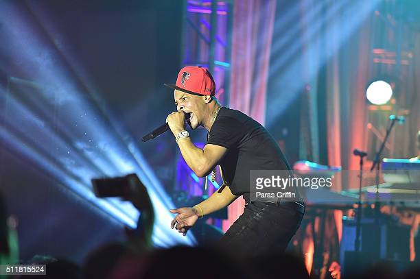 Rapper TI performs onstage at TIDAL X TIP at Greenbriar Mall on February 22 2016 in Atlanta Georgia