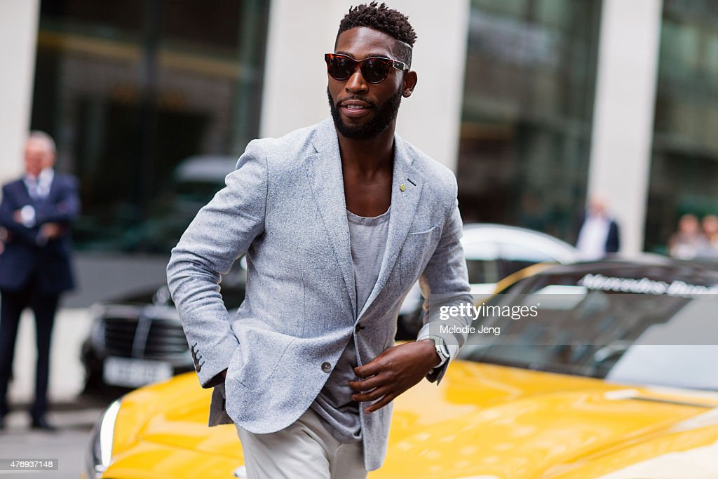 Rapper <a gi-track='captionPersonalityLinkClicked' href=/galleries/search?phrase=Tinie+Tempah&family=editorial&specificpeople=6742538 ng-click='$event.stopPropagation()'>Tinie Tempah</a> during The London Collections Men SS16 at on June 12, 2015 in London, England.