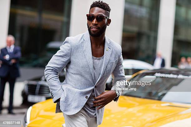 Rapper Tinie Tempah during The London Collections Men SS16 at on June 12 2015 in London England