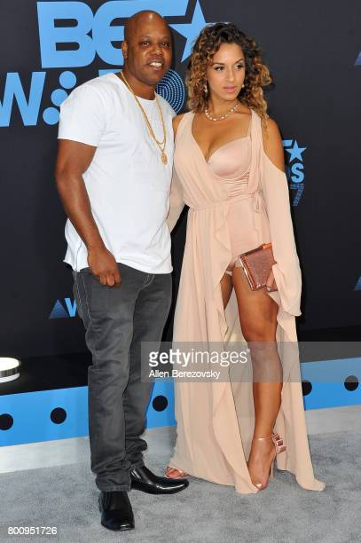 Rapper Too Short and a guest arrive at the 2017 BET Awards at Microsoft Theater on June 25 2017 in Los Angeles California