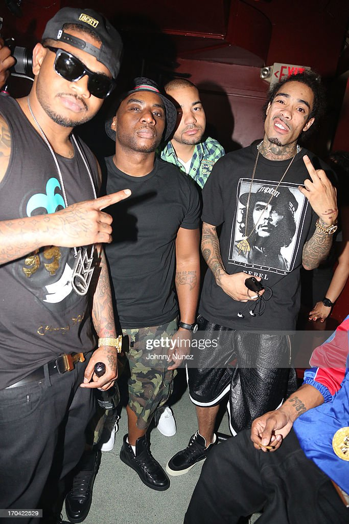 Rapper Torch, radio personality Charlamagne Tha God, DJ Envy and rapper Gunplay attend S.O.B.'s on June 12, 2013 in New York City.