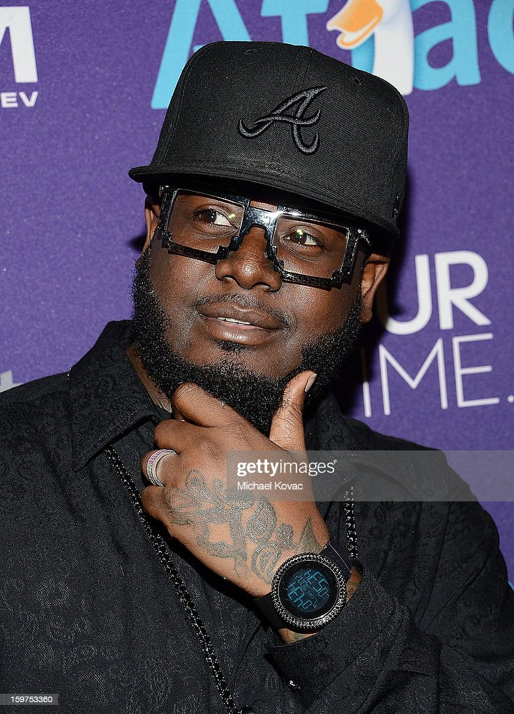 Rapper <a gi-track='captionPersonalityLinkClicked' href=/galleries/search?phrase=T-Pain&family=editorial&specificpeople=1223407 ng-click='$event.stopPropagation()'>T-Pain</a> attends the Inaugural Youth Ball hosted by OurTime.org at Donald W. Reynolds Center on January 19, 2013 in Washington, United States.