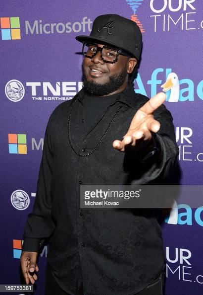Rapper TPain attends the Inaugural Youth Ball hosted by OurTimeorg at Donald W Reynolds Center on January 19 2013 in Washington United States