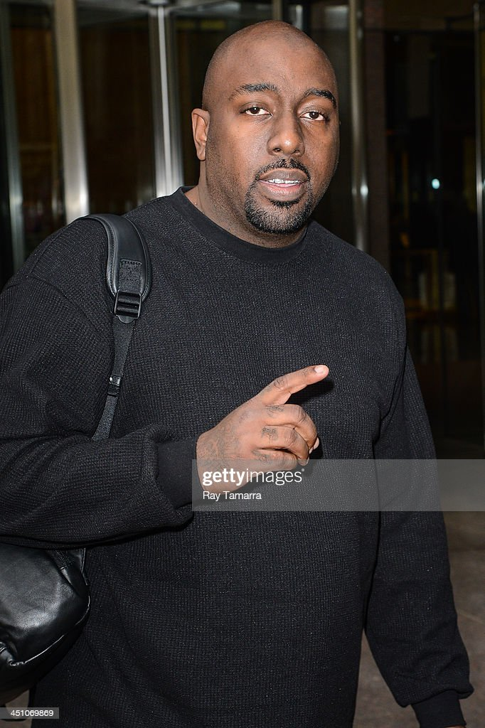 Rapper Trae Tha Truth leaves the Sirius XM Studios on November 21, 2013 in New York City.