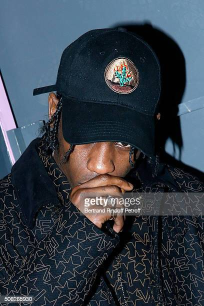 Rapper Travis Scott attends the Givenchy Menswear Fall/Winter 20162017 show as part of Paris Fashion Week on January 22 2016 in Paris France