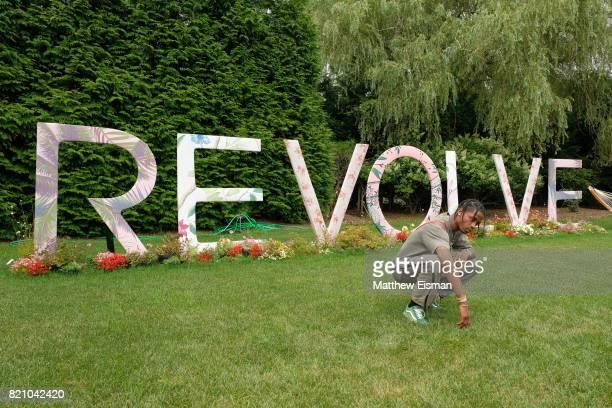 Rapper Travis Scott celebrates #REVOLVEintheHamptons Close Out Party with Moet Chandon on July 22 2017 in Bridgehampton New York
