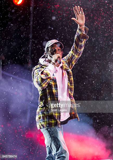 Rapper Travis Scott performs at Festival D'ete De Quebec on July 7 2016 in Quebec City Canada