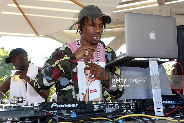 Rapper Travis Scott performs at REVOLVE Desert House on April 17 2016 in Thermal California