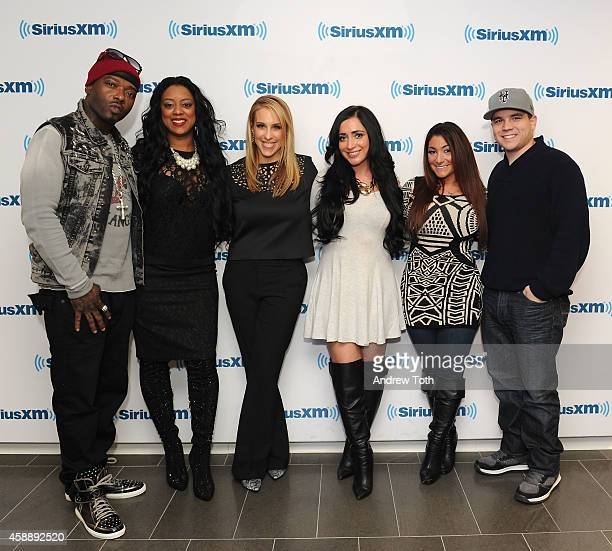Rapper Treach Criss Cicely Evans Dr Jenn Berman Angelina Pivarnick Deena Cortese and Chris Buckner attend Dr Jenn Berman tapes 'The Dr Jenn Show' at...