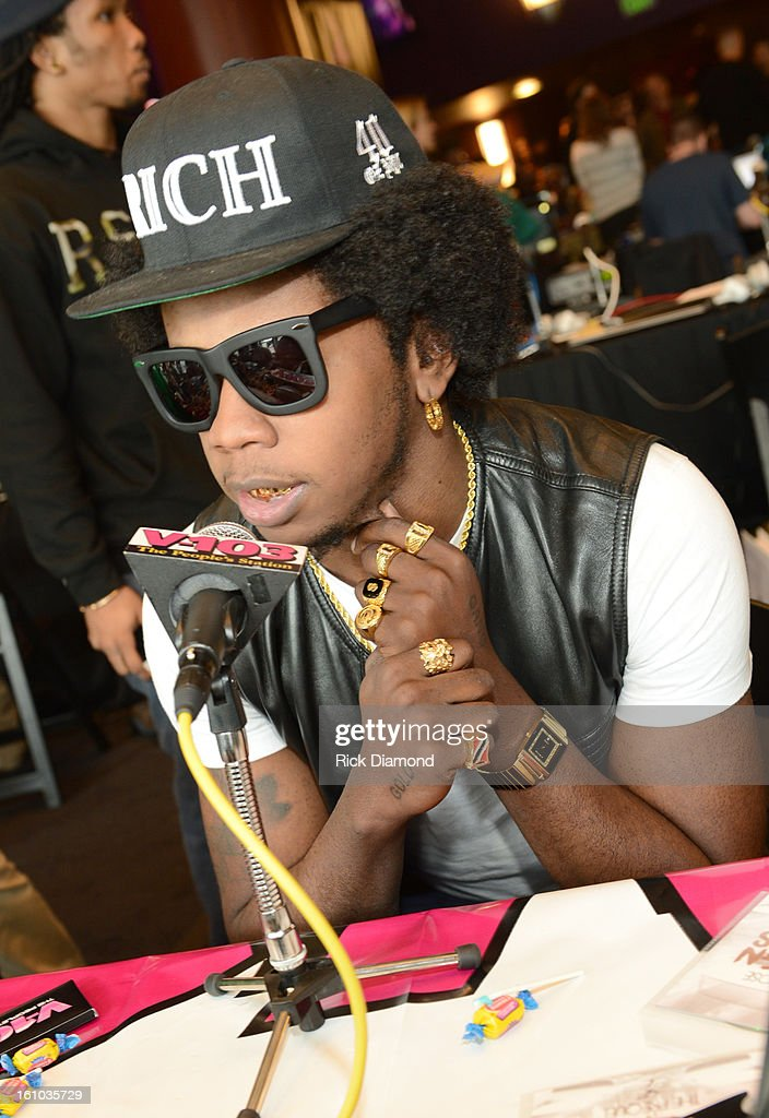Rapper Trinidad James is interviewed at the GRAMMYs Dial Global Radio Remotes during The 55th Annual GRAMMY Awards at the STAPLES Center on February 8, 2013 in Los Angeles, California.