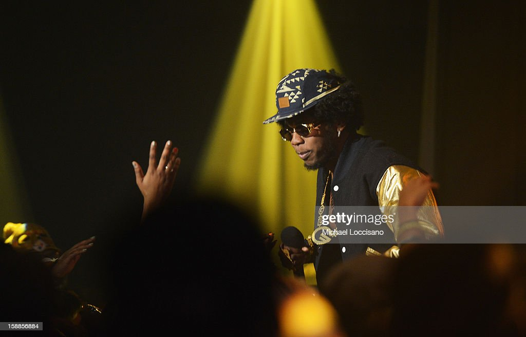 Rapper Trinidad James performs during BET's 106 And Park 2013 New Years Eve Party at BET Studios on December 17, 2012 in New York City.