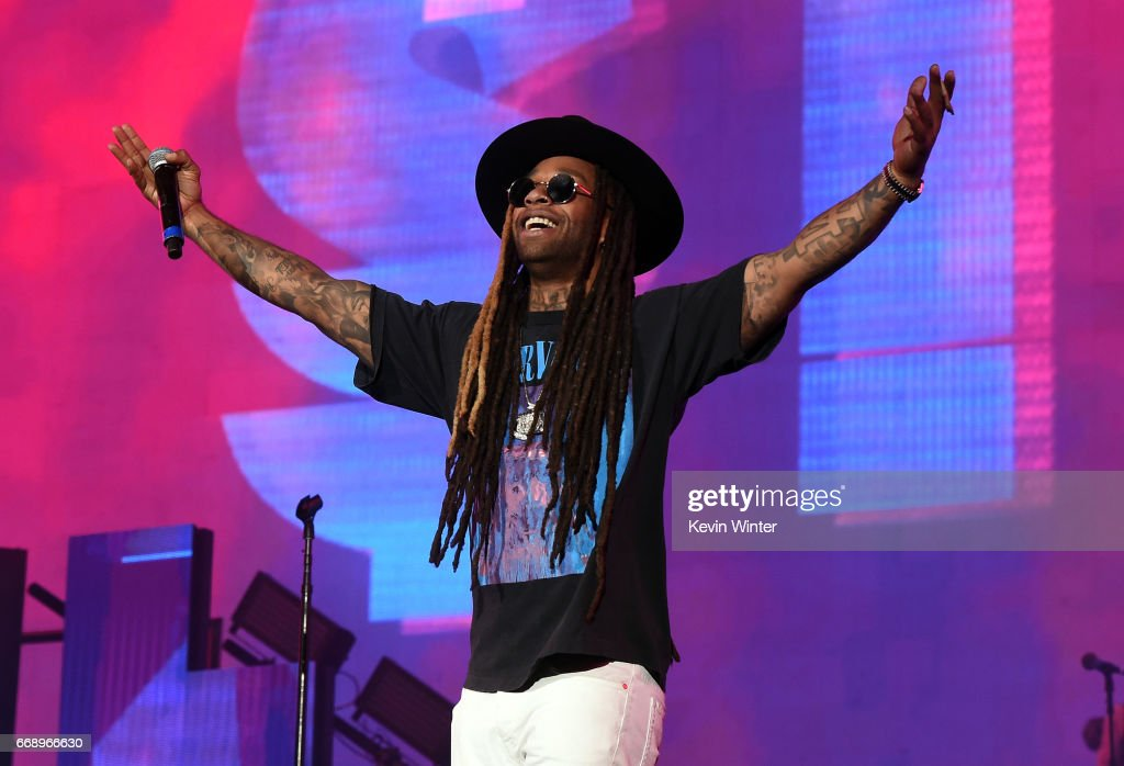 Rapper Ty Dolla Sign performs on the Coachella Stage during day 2 of the Coachella Valley Music And Arts Festival (Weekend 1) at the Empire Polo Club on April 15, 2017 in Indio, California.